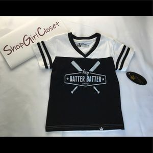 Littlest Prince Couture...B/W top...size 2T